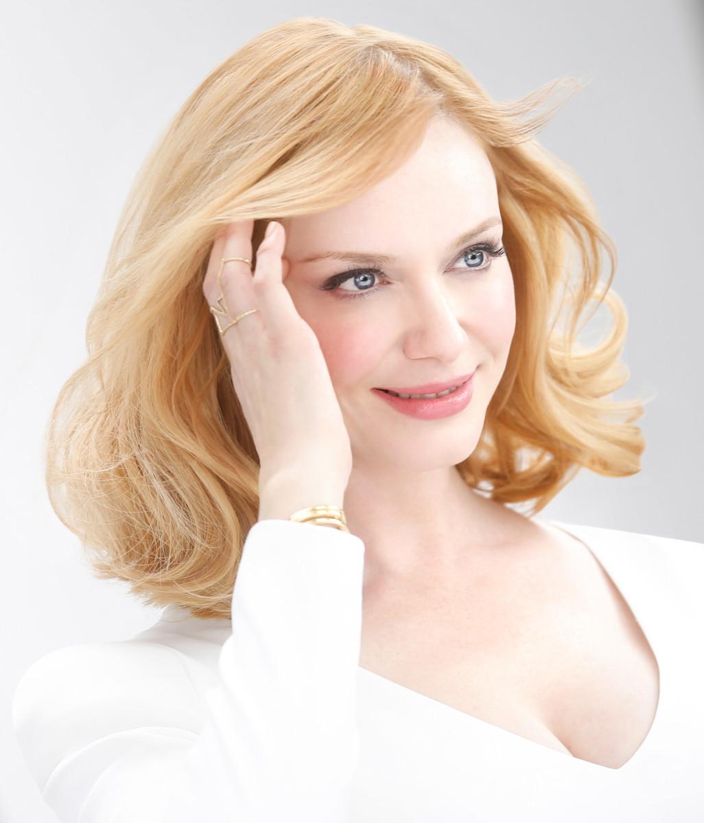Christina Hendricks blonde hair