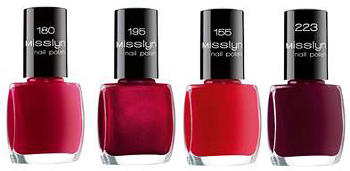 Misslyn Nail Polish reds