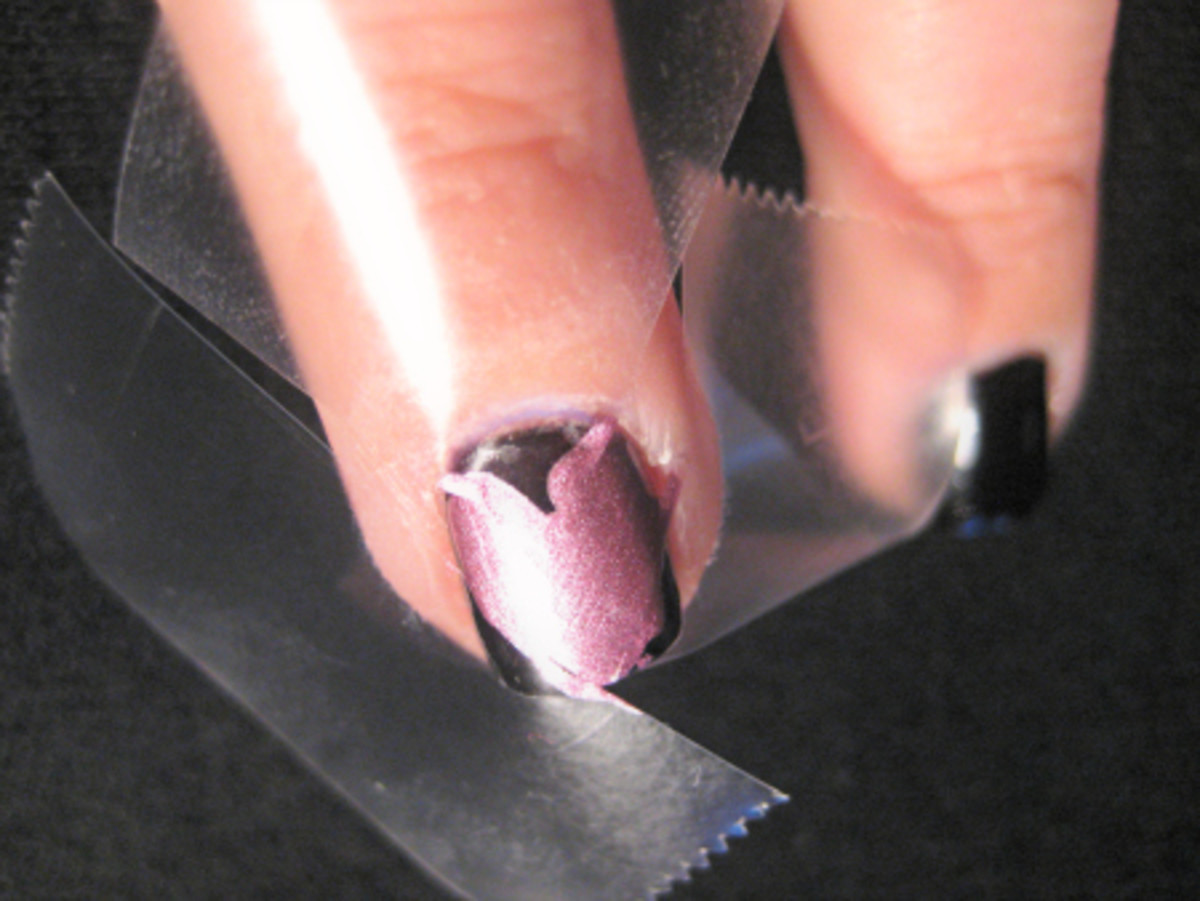 Valentine's Day nail art - step 3