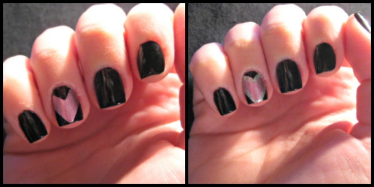 Valentine's Day nail art - step 4