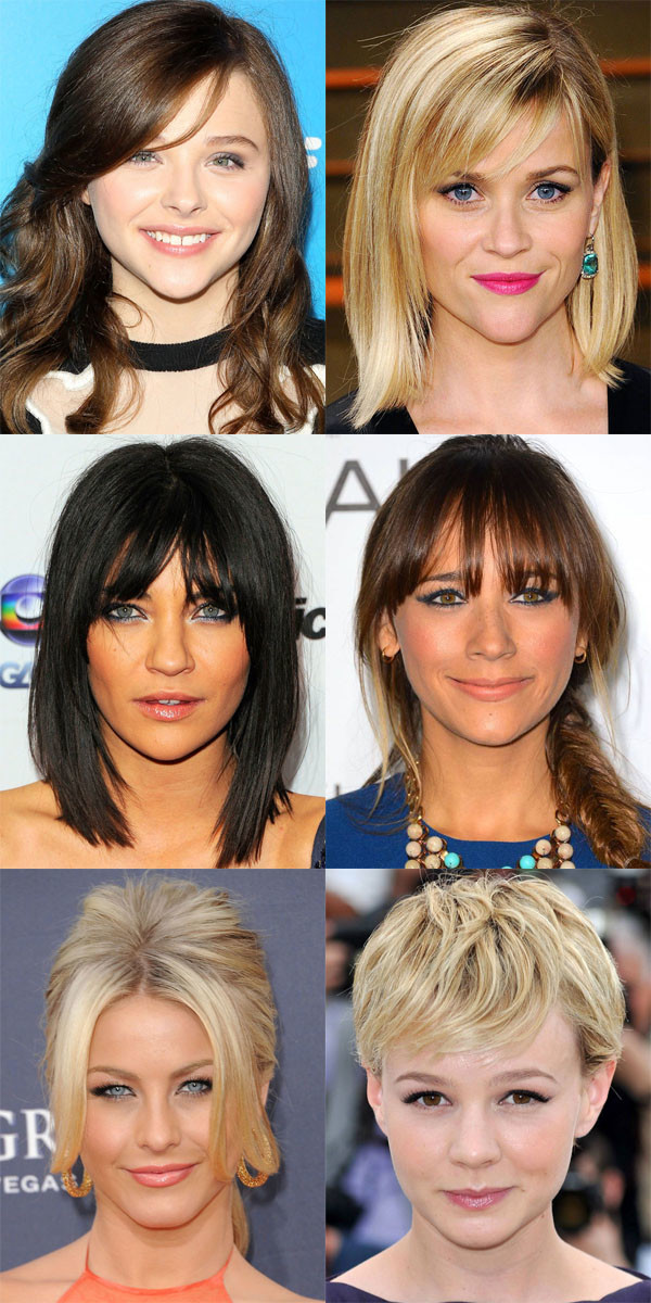 Best bangs for inverted triangle face shape