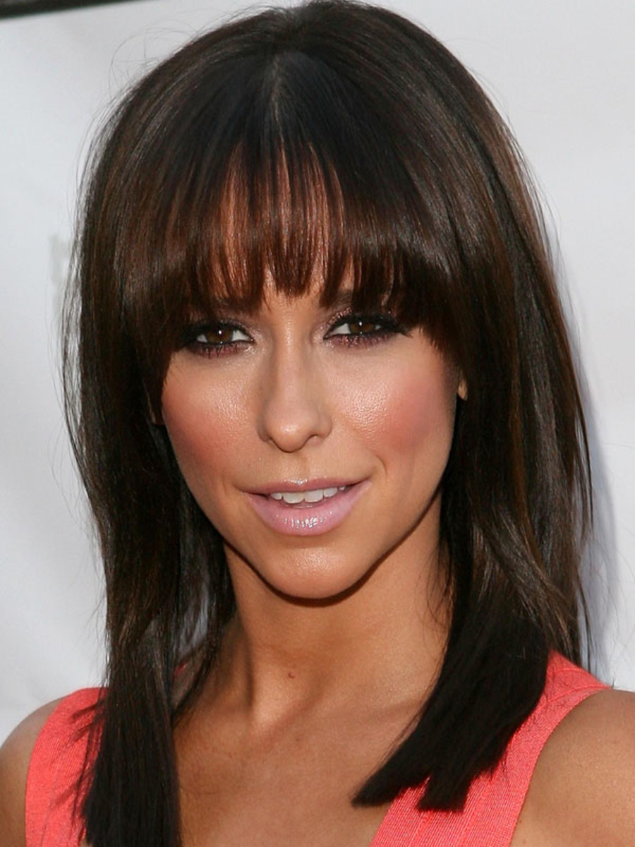Jennifer Love Hewitt inverted triangle face bangs