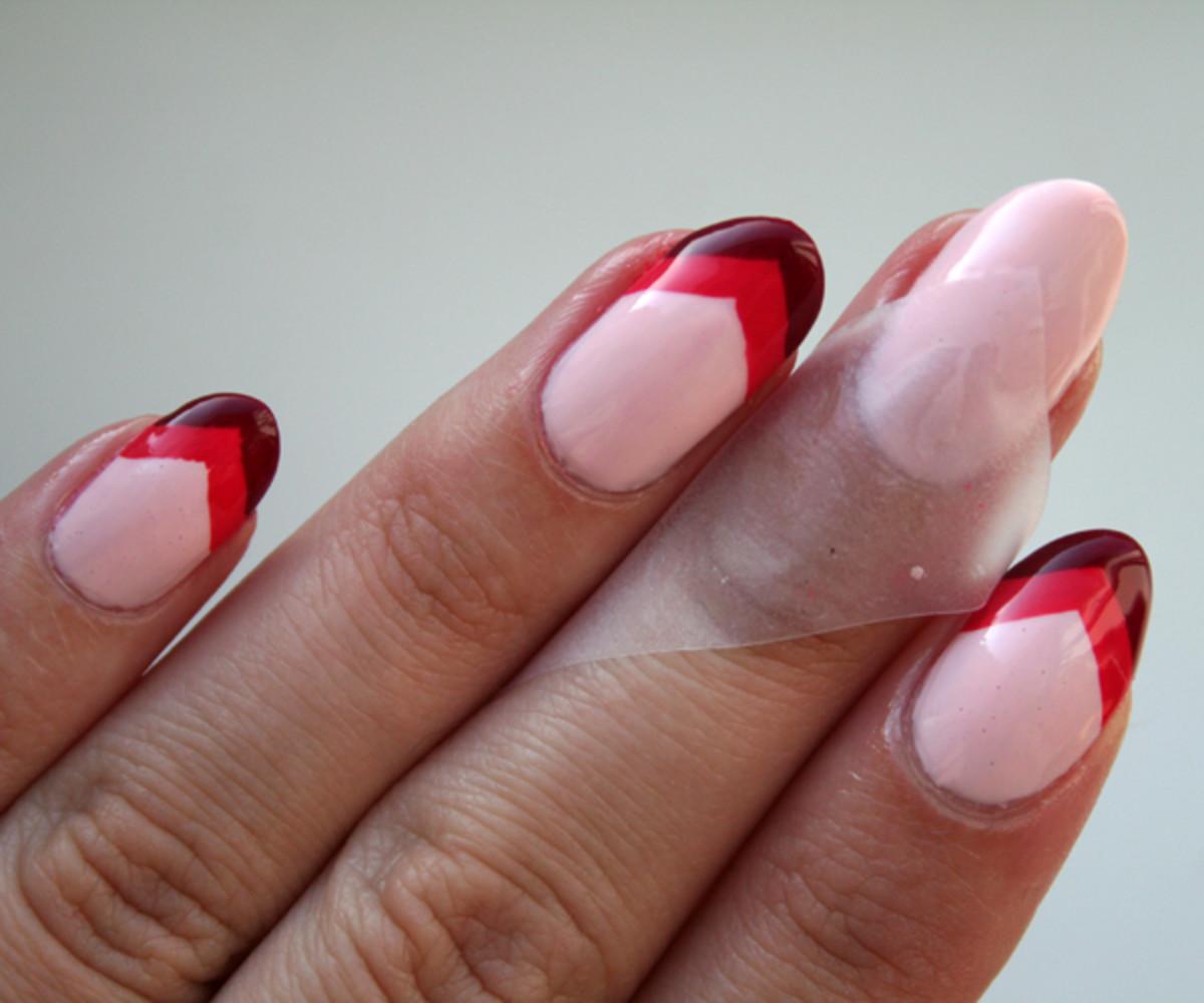 Chevron nails step 3