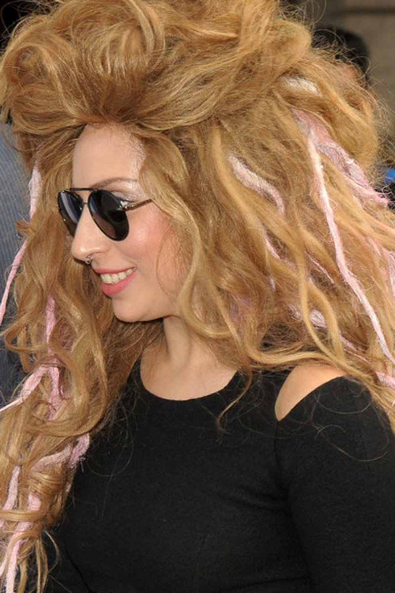 Lady Gaga before and after: London, 2013