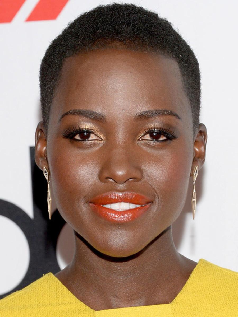 Lupita Nyong'o orange lipstick