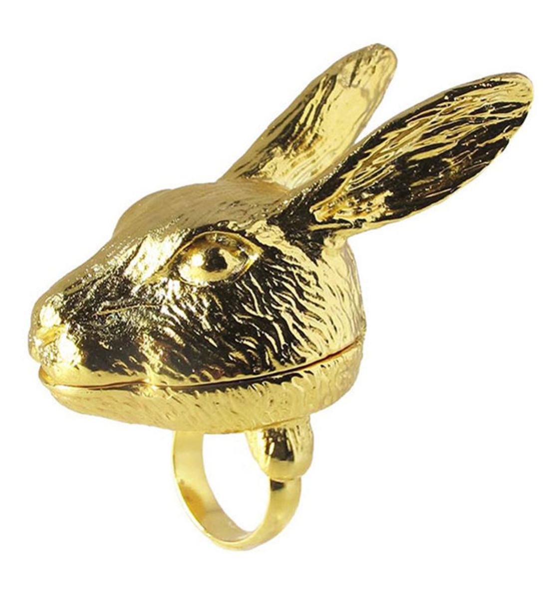 Andrea Garland Bunny Lip Balm Ring