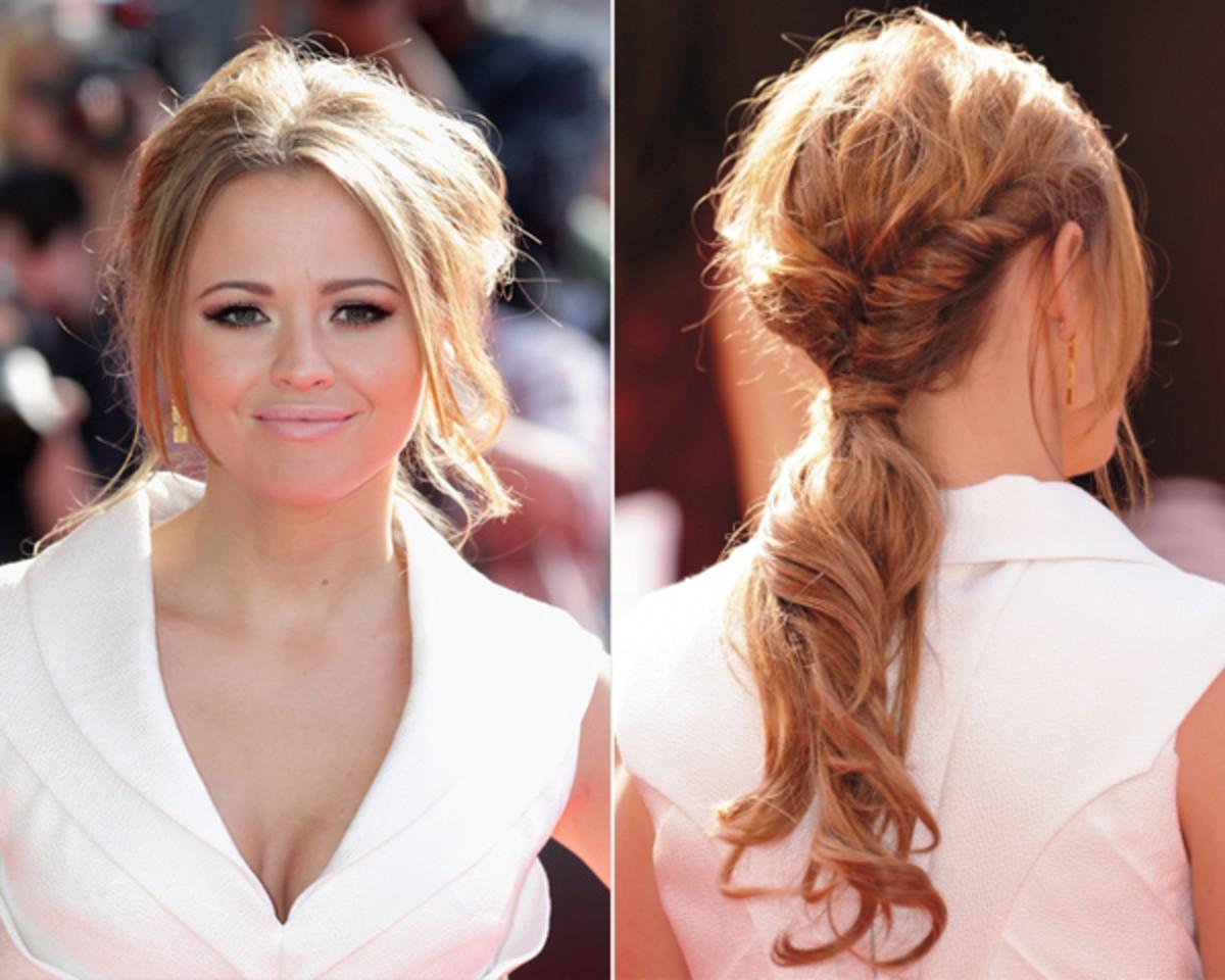 Kimberley-Walsh-twisted-ponytail
