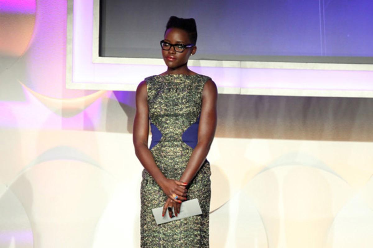 Lupita Nyong'o, GLAAD Media Awards, 2014 (glasses)
