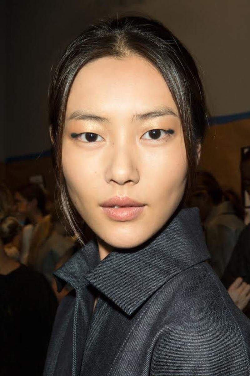 Liu Wen at Derek Lam Spring 2014