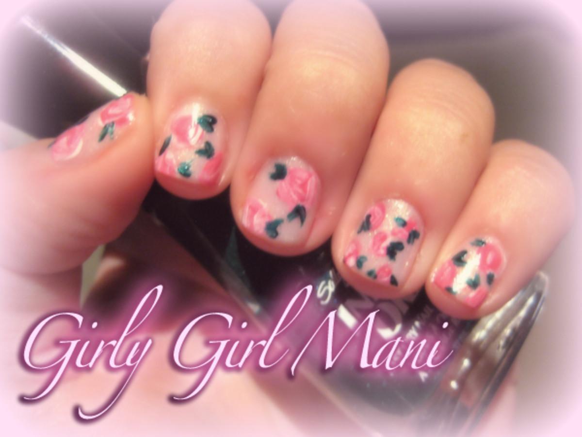 Girly girl mani