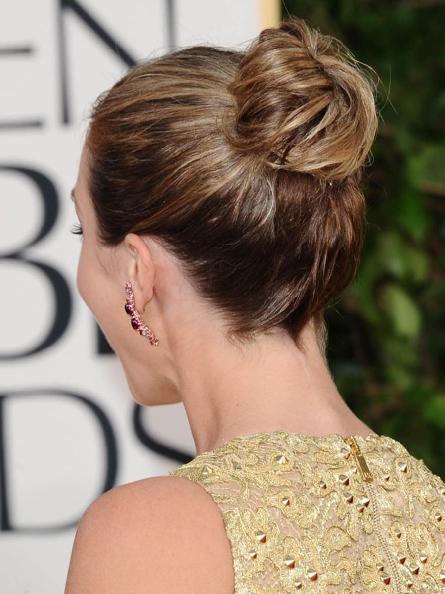 Emily Blunt - Golden Globe Awards 2013 hair