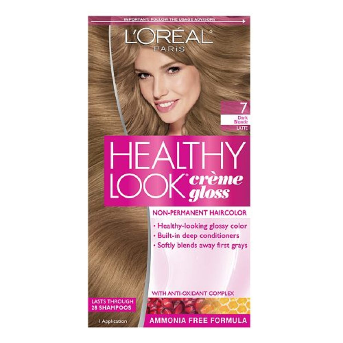 L'Oreal Healthy Look Creme Gloss in 7 Dark Blonde Latte