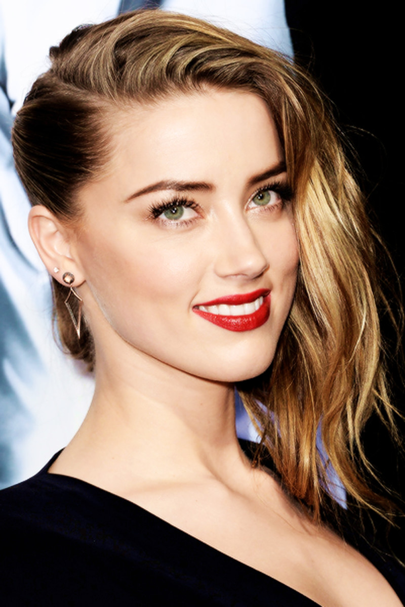Amber Heard undercut, 3 Days to Kill premiere, 2014 (4)