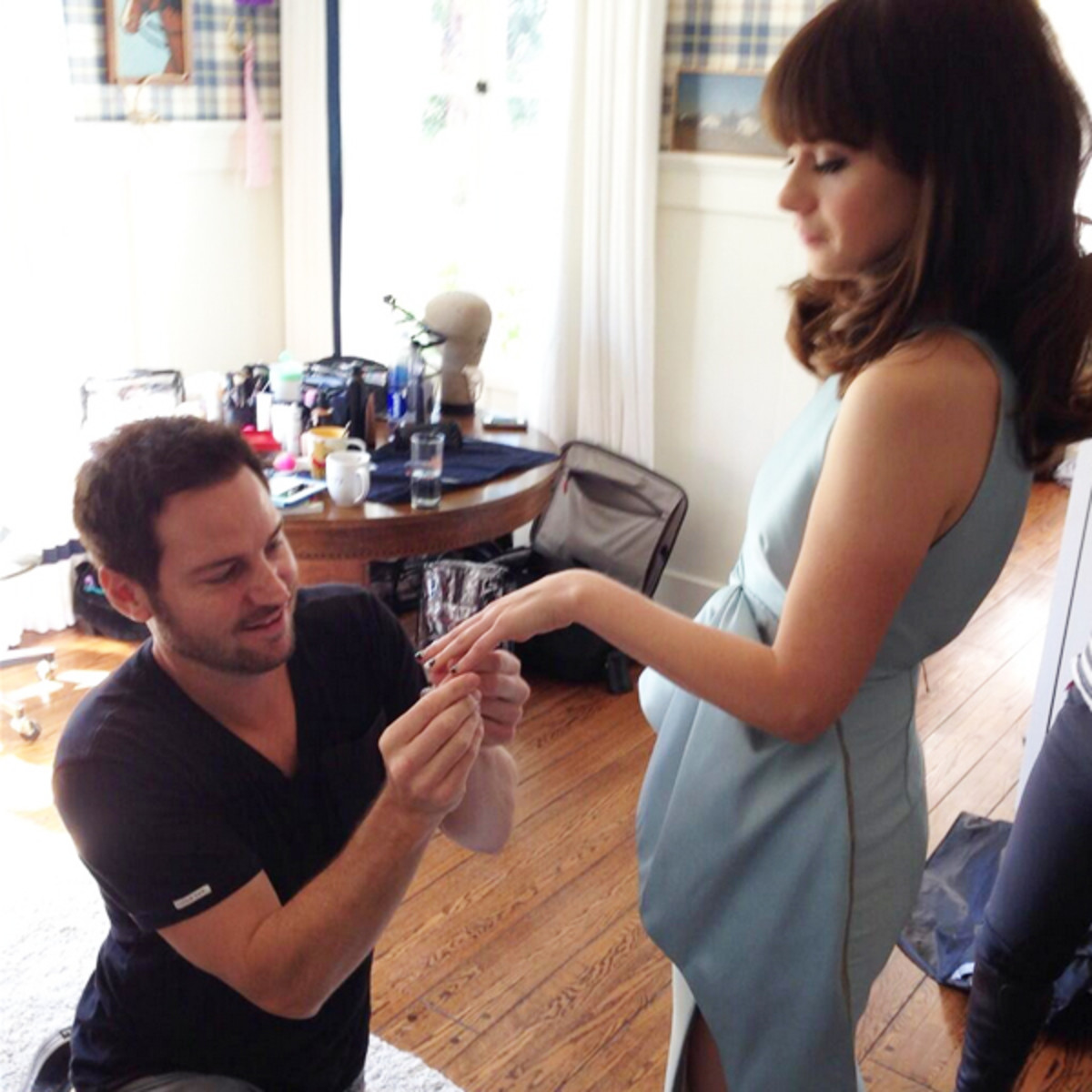 Tom Bachik and Zooey Deschanel
