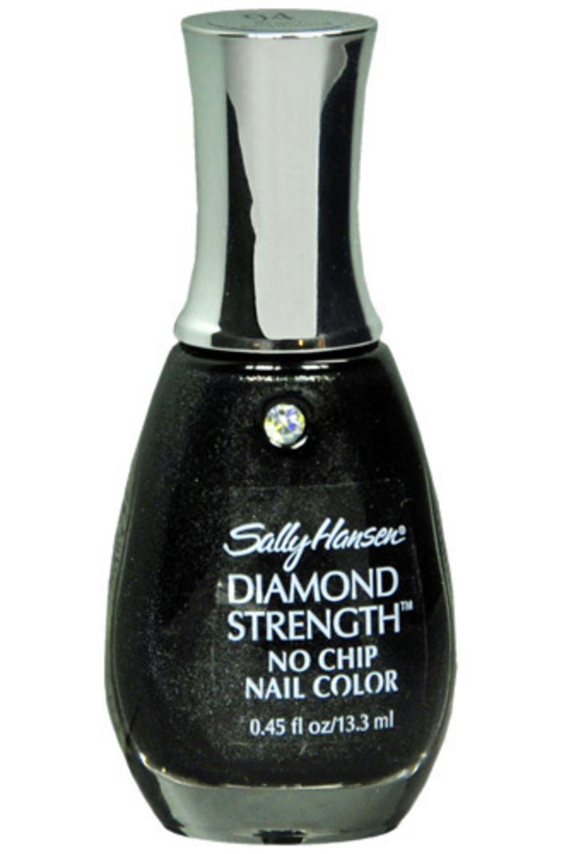 Sally Hansen Diamond Strength Nail Polish in Black Diamond