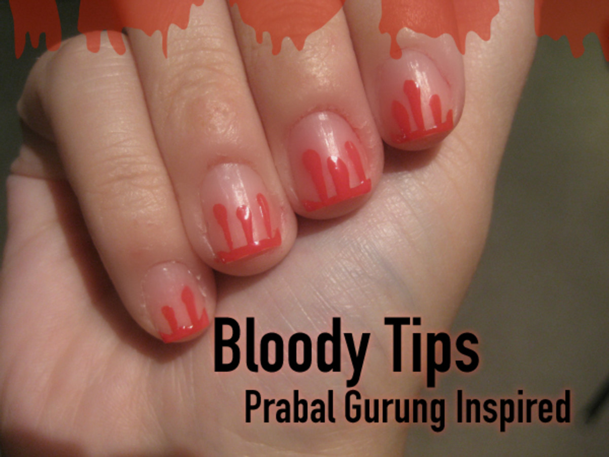Prabal Gurung-inspired blood drop manicure