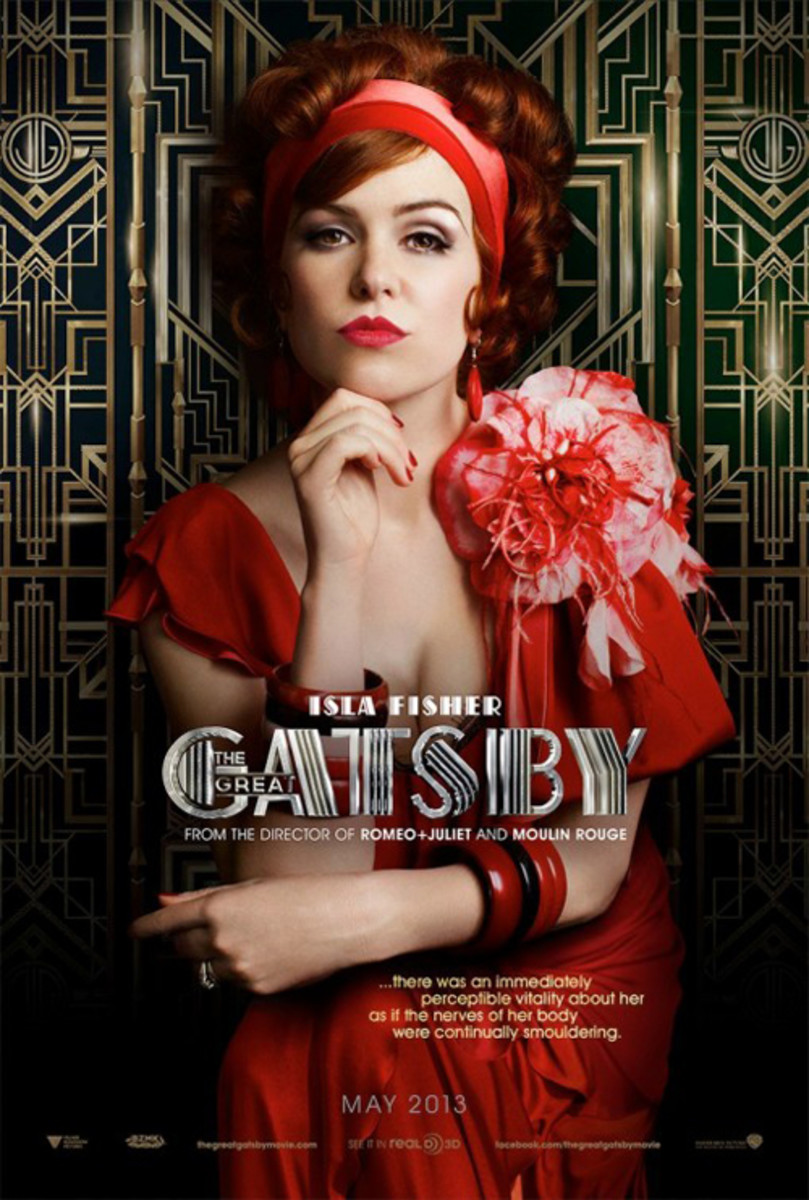 Isla Fisher - Great Gatsby movie poster