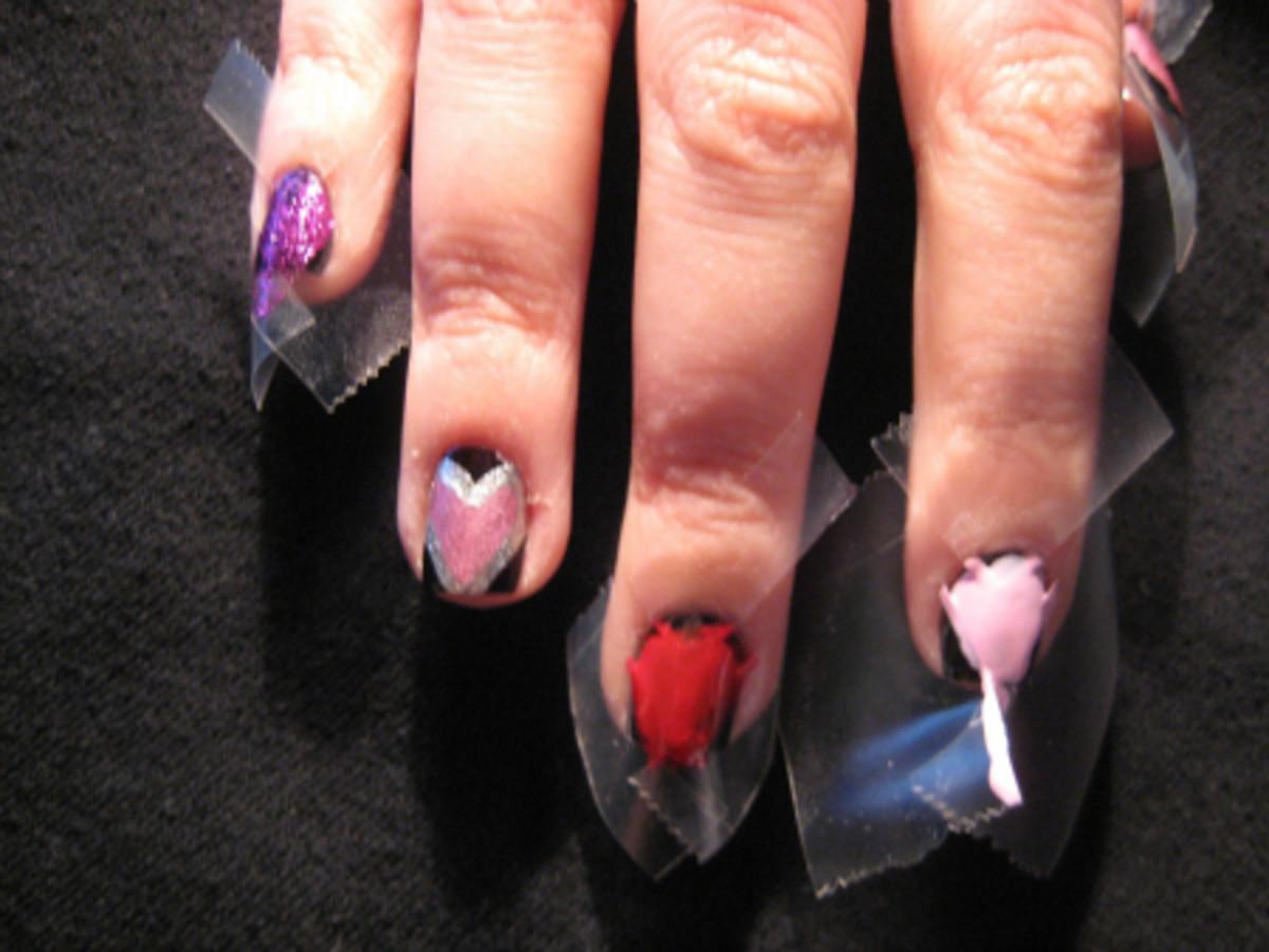 Valentine's Day nail art - step 5