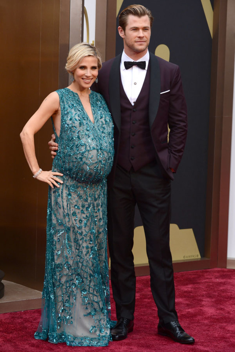 Elsa Pataky and Chris Hemsworth, Academy Awards 2014