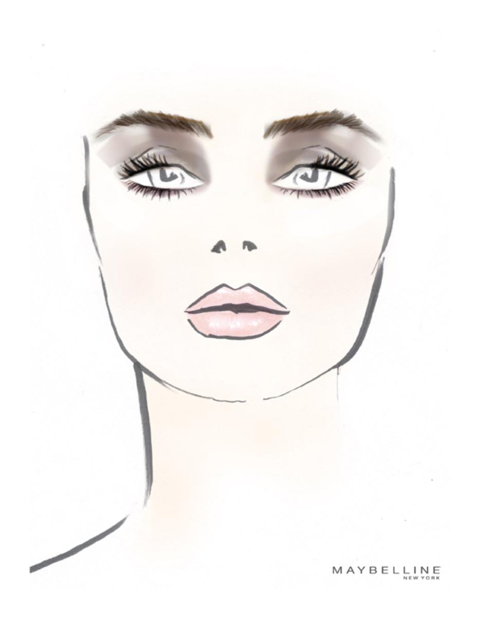 Richard Chai Fall 2013 makeup