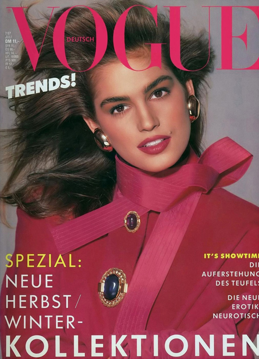 Cindy Crawford - July 1987 German Vogue