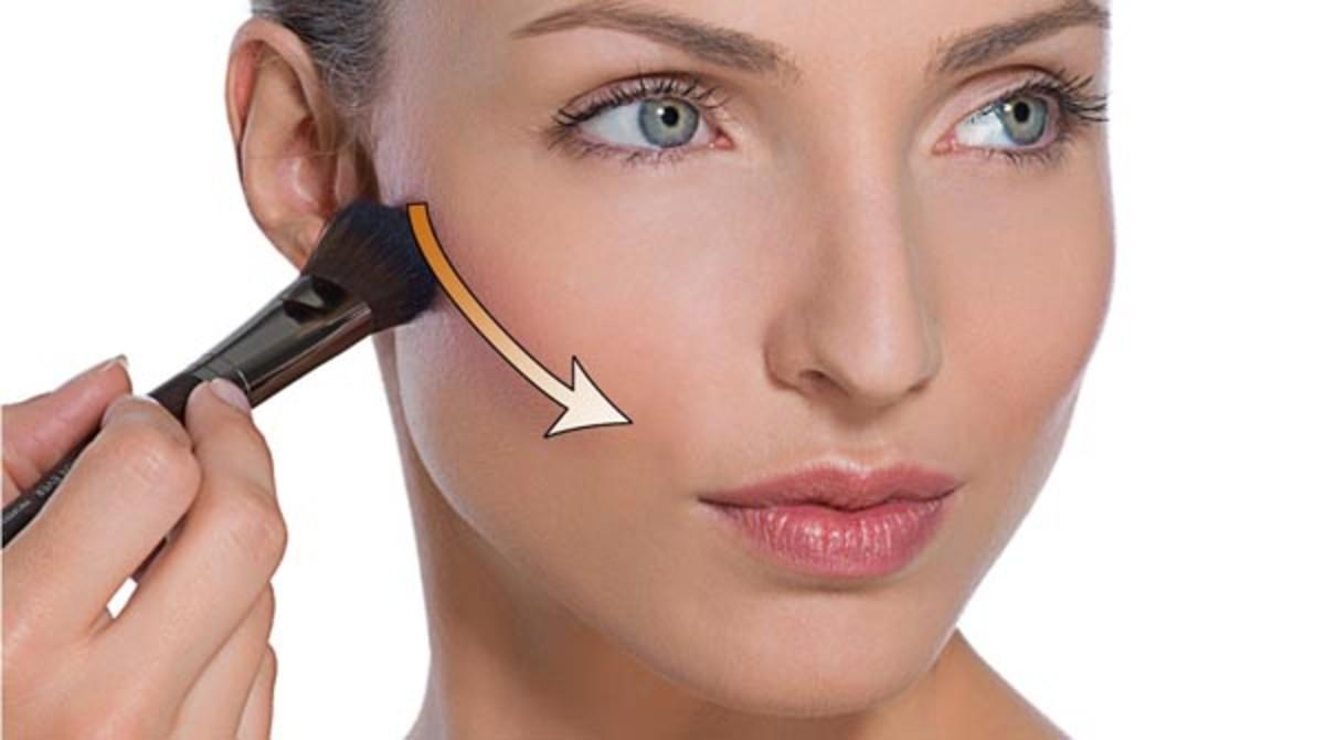 Make Up For Ever sculpting blush application
