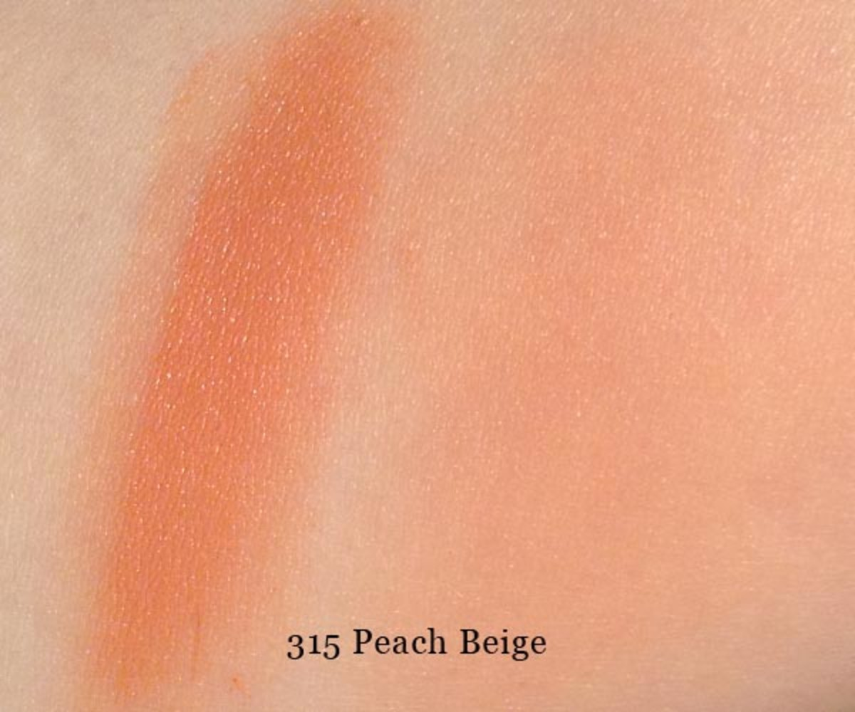 Make Up For Ever HD Blush in 315 Peach Beige (swatched)