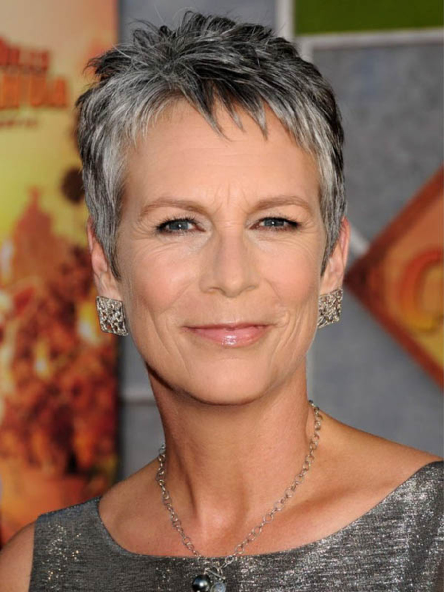 Jamie Lee Curtis - salt and pepper hair colour