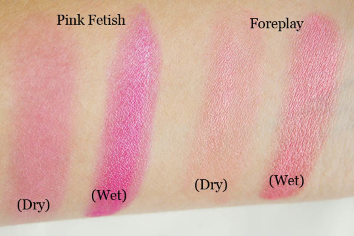 NYX Baked Blush in Pink Fetish and Foreplay wet and dry swatches