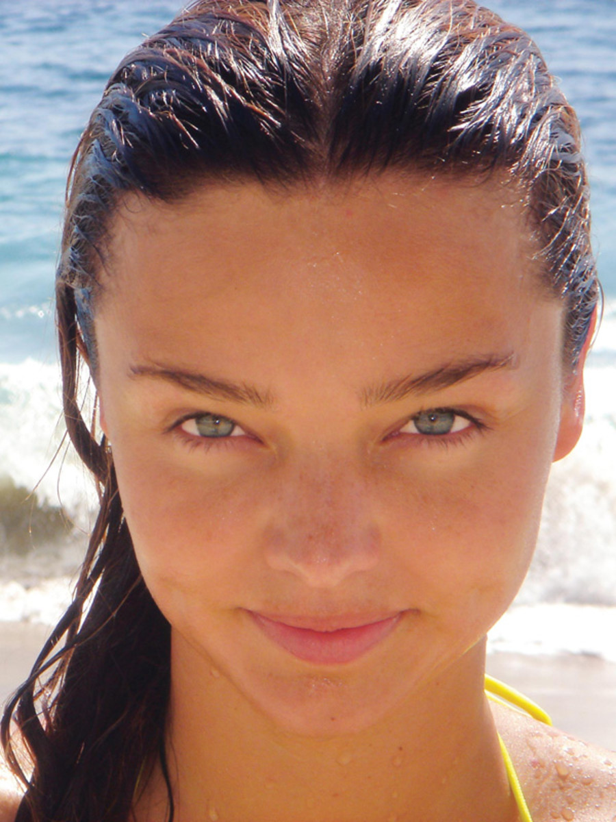 Miranda Kerr on the beach