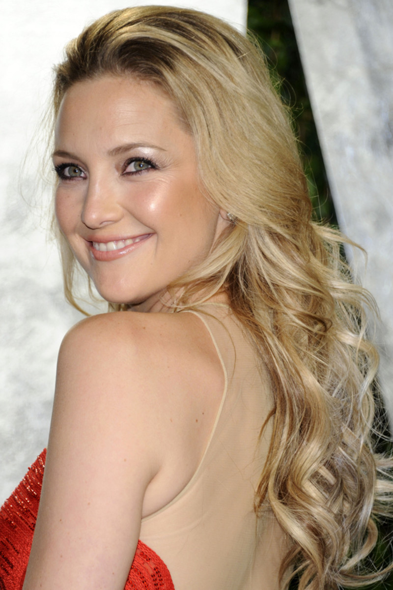 Kate Hudson beauty tips - Vanity Fair Oscar party, 2012