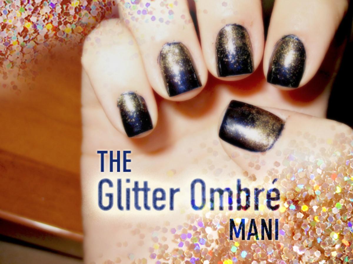 Glitter Ombre mani