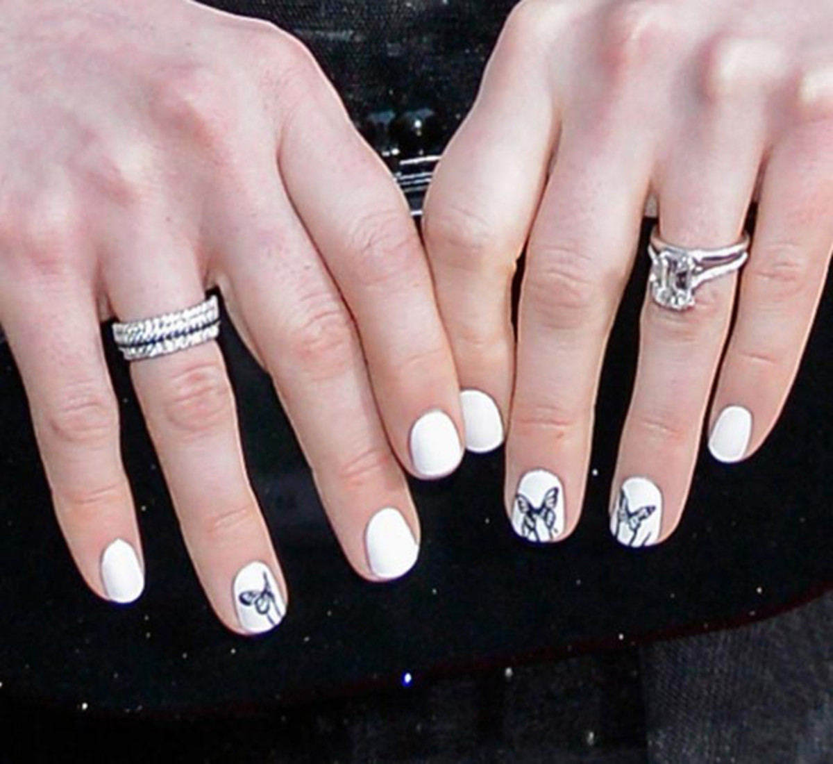 Anne Hathaway - SAG Awards 2013 nails