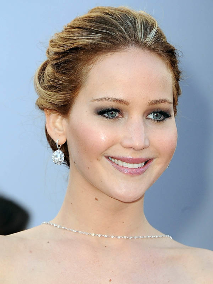 Jennifer Lawrence - Oscars 2013 hair - front