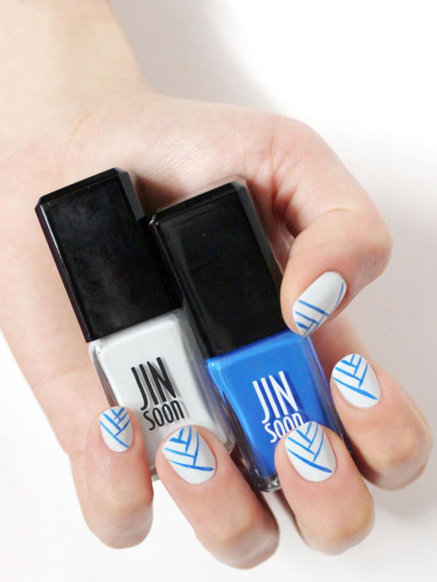 Line nail art tutorial (2)