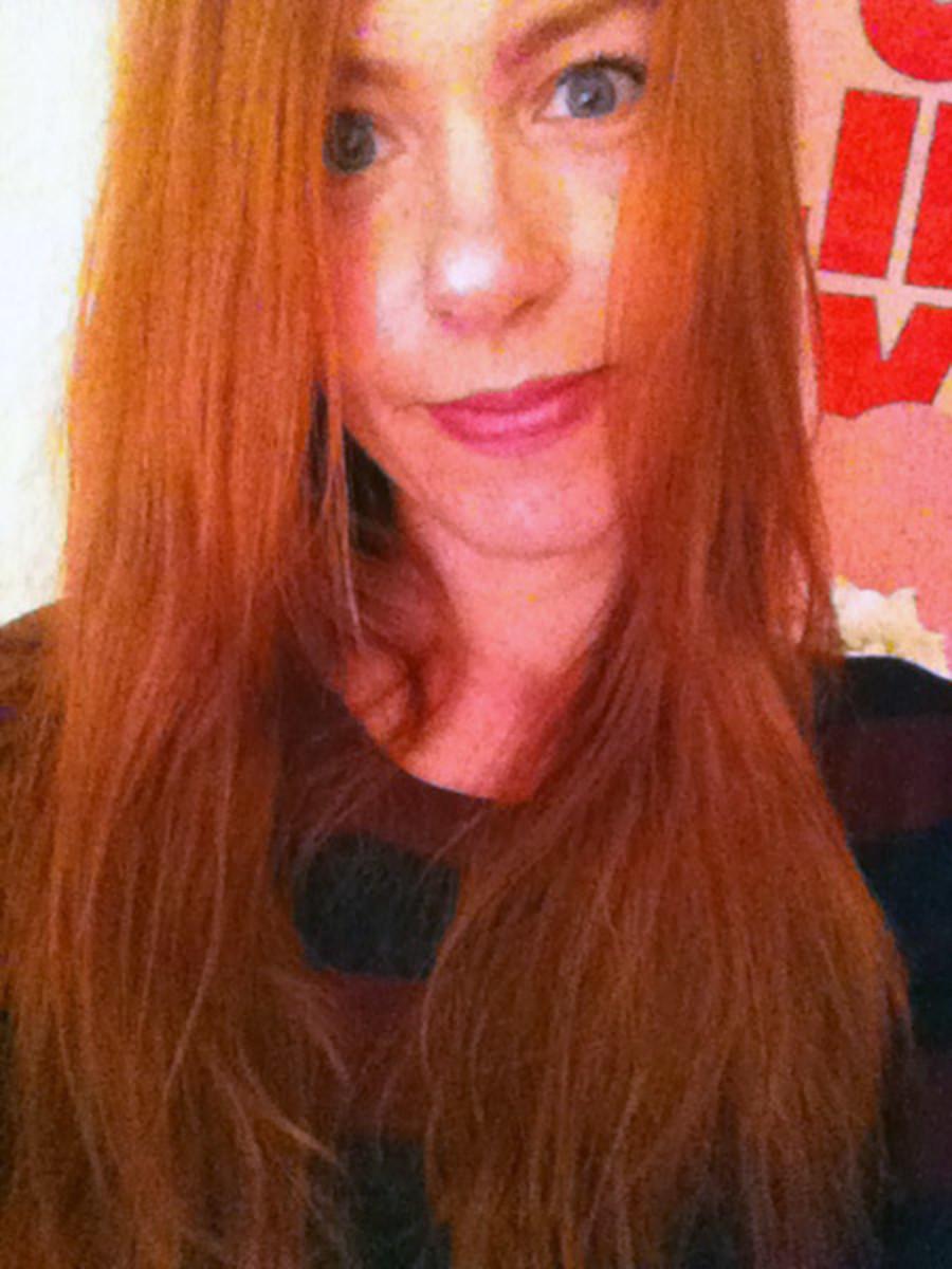 Burgundy hair - after