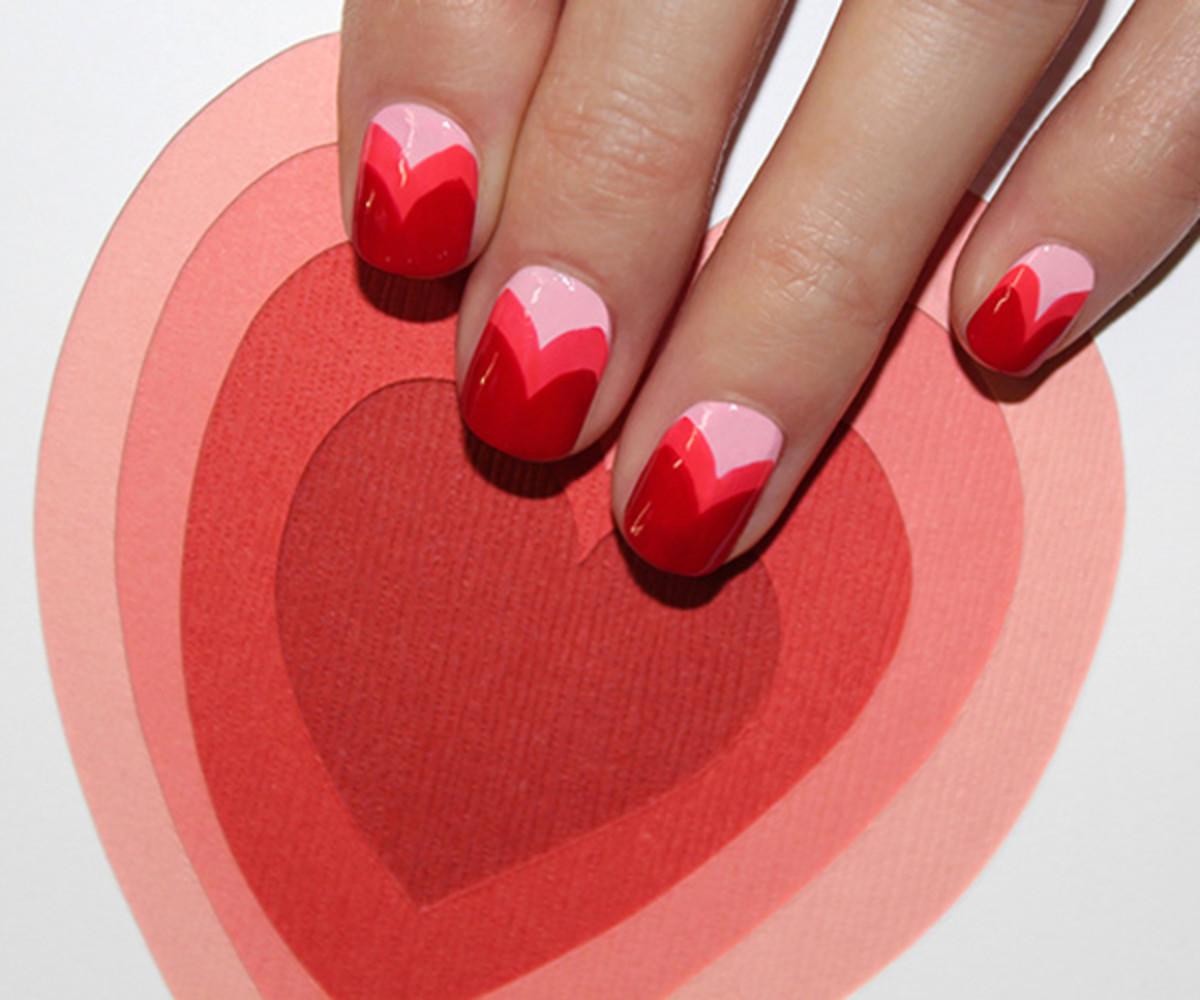 Heart manicure tutorial - final