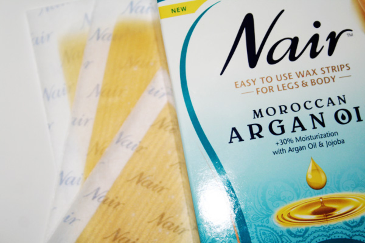 Nair Moroccan Argan Oil Easy to Use Wax Strips (2)