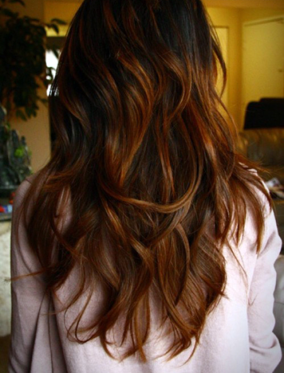 Long brunette waves