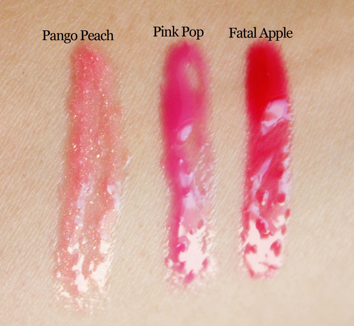 Revlon Super Lustrous Lip Gloss swatches