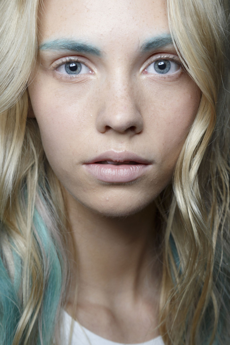 Badgley Mischka Spring 2015 makeup