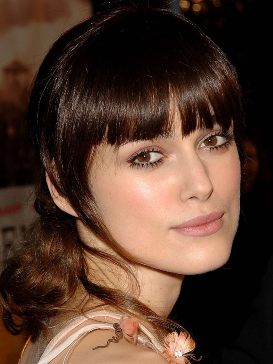 Keira Knightley square face bangs