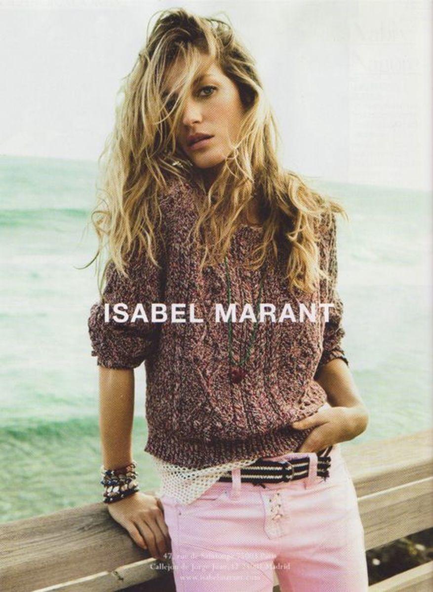 Gisele Bundchen for Isabel Marant