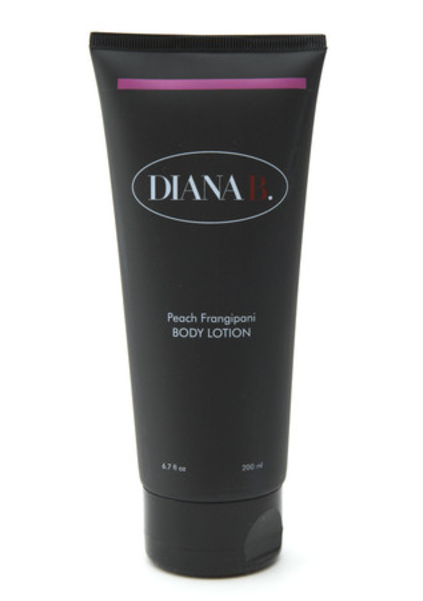 Diana B. Peach Frangipani Body Lotion