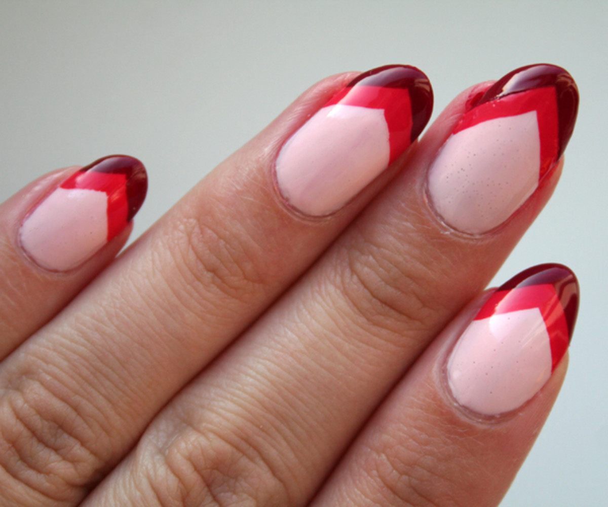 Chevron nails step 7