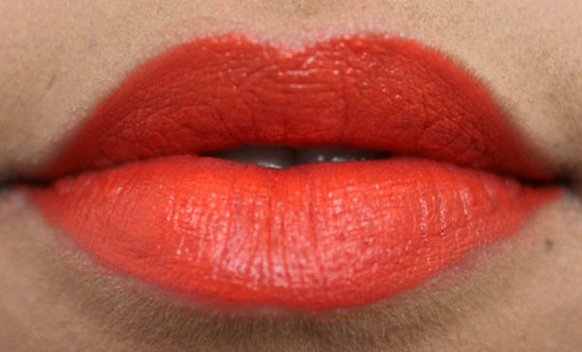 MAC Lipstick in Morange (2)