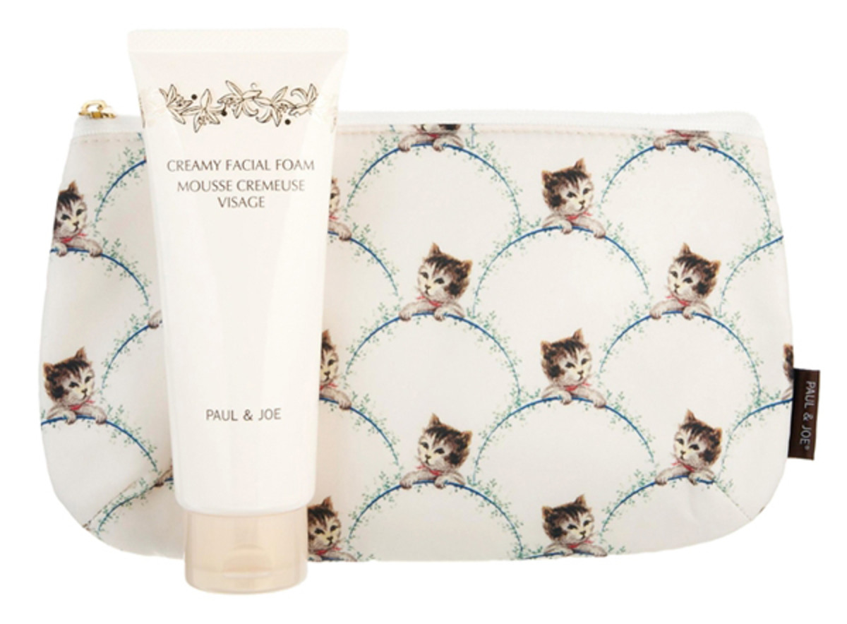 Paul & Joe ASOS Exclusive Creamy Facial Cleansing Foam & Cat Makeup Bag