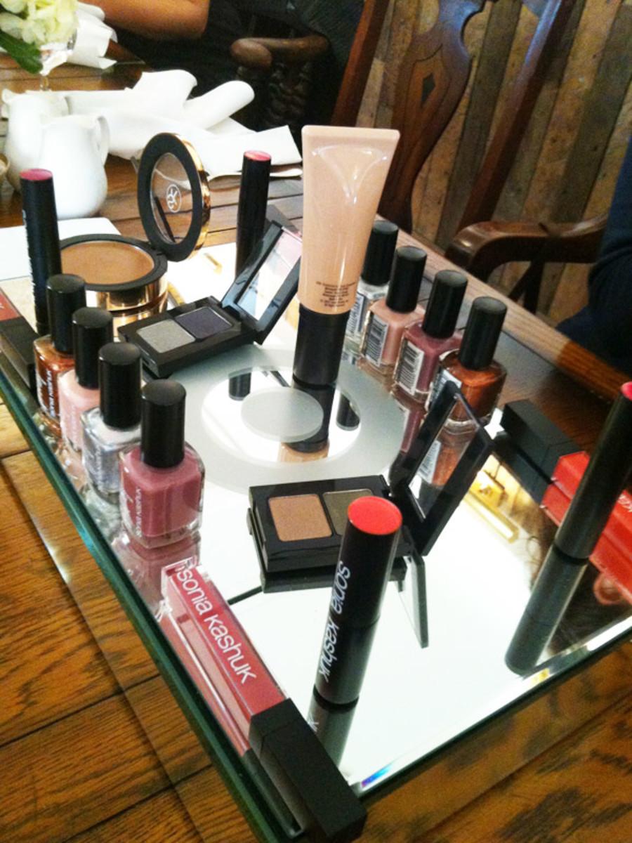 Sonia Kashuk in Toronto - makeup display