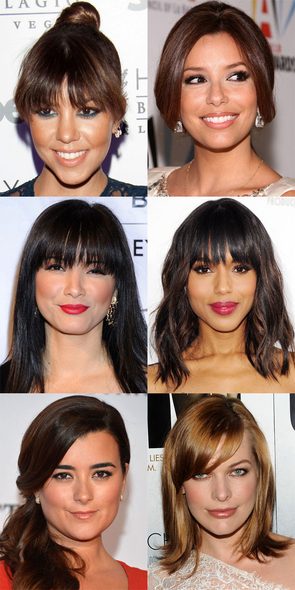 Best bangs for heart face