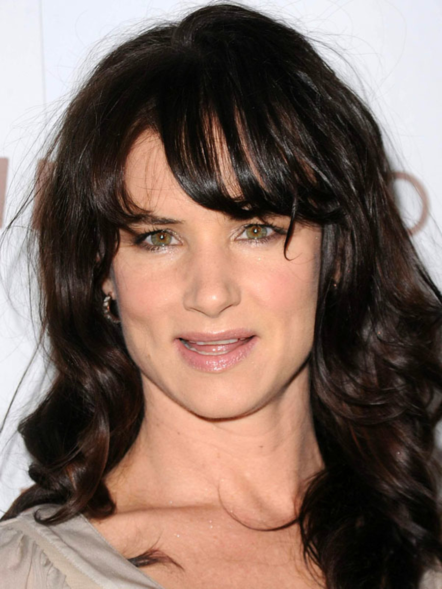 Juliette Lewis heart face bangs